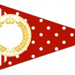 Bandeirinha Sanduiche 5 Realeza Vermelho