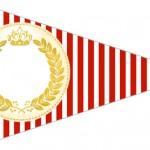 Bandeirinha Sanduiche Realeza Vermelho