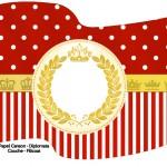 Bandeirinha Varalzinho 2 Realeza Vermelho