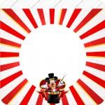 Bandeirinha Varalzinho Quadrada Mickey Circo