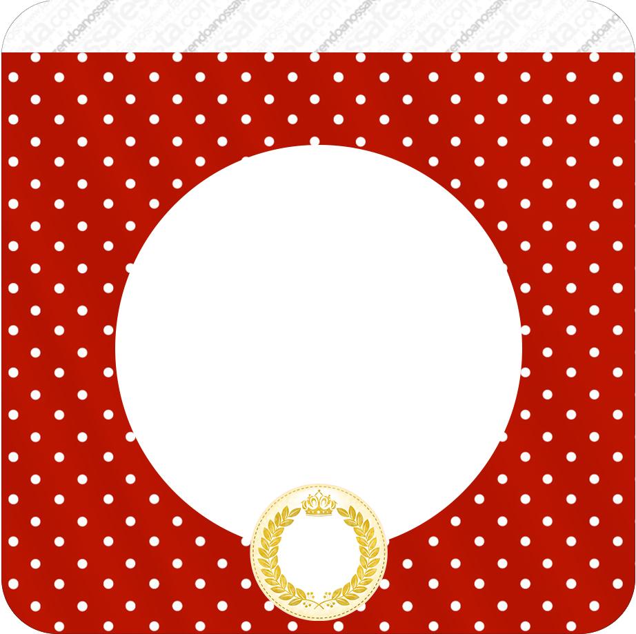 Bandeirinha Varalzinho Quadrada Realeza Vermelho