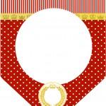 Bandeirinha Varalzinho Realeza Vermelho