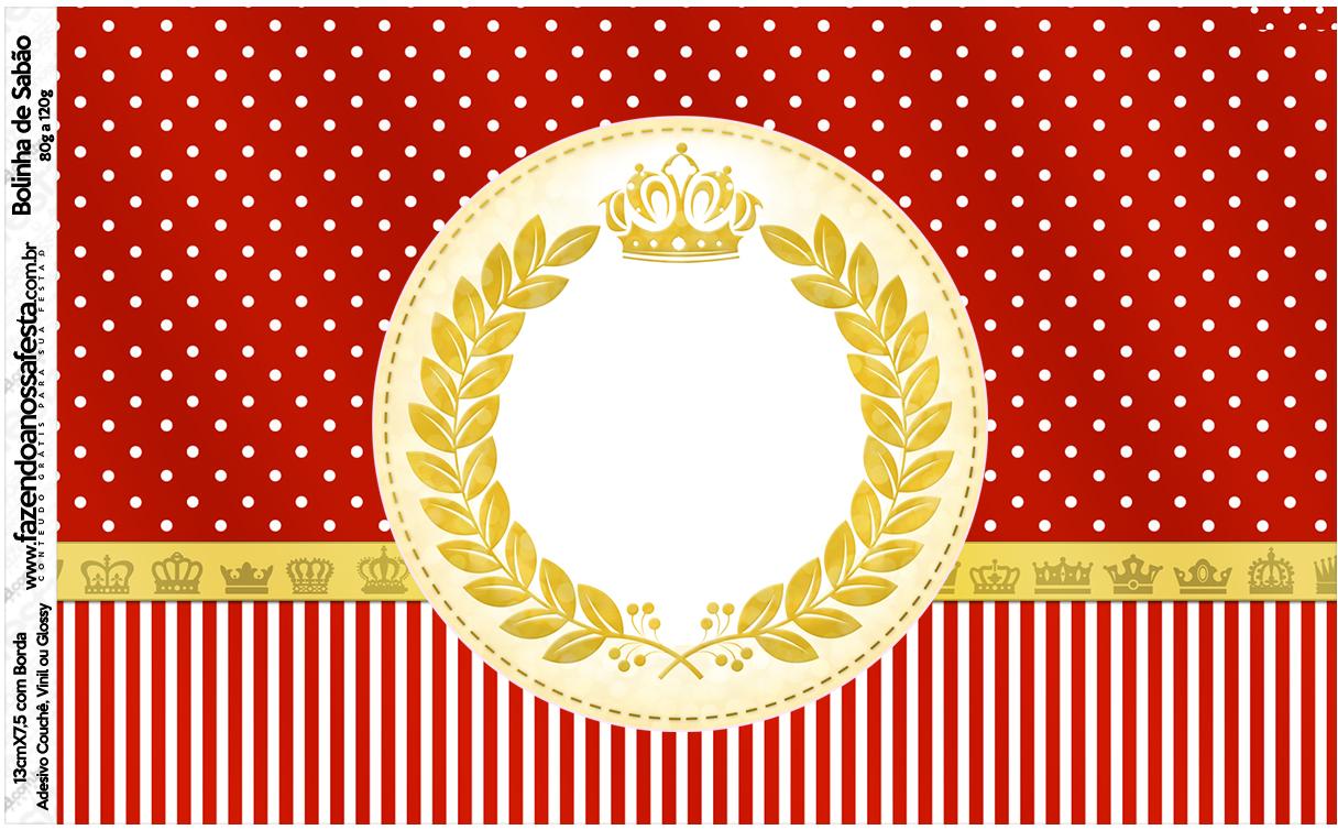 Bolinha de Sabao Realeza Vermelho