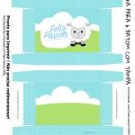 Caixa 6 Baton Presente para Páscoa Crista Ovelhinha
