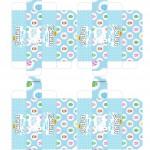 Caixa Baton para Pascoa - Gratis para Imprimir Azul