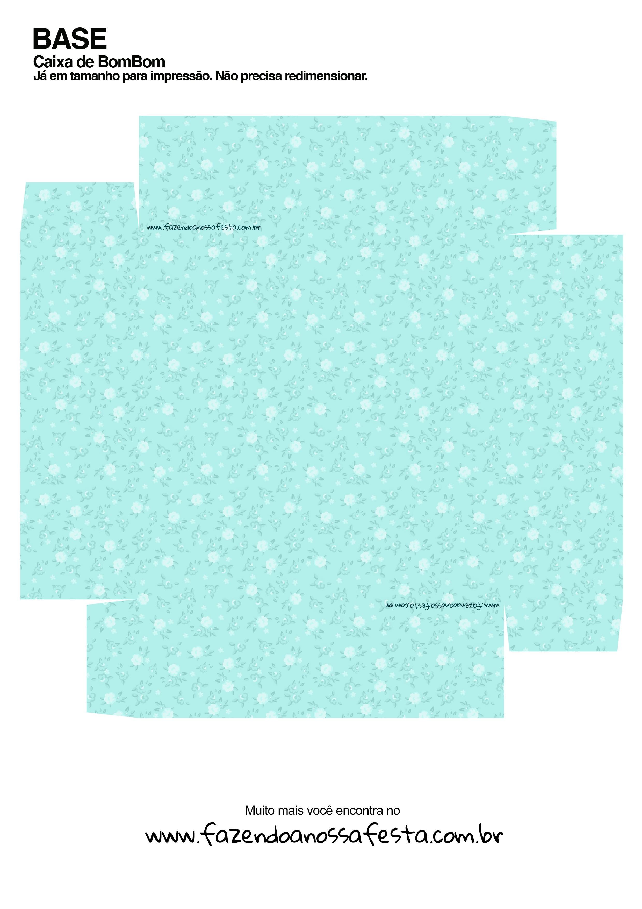 Caixa Bombom Azul Presente para Páscoa Cristã Ovelhinha - Parte de baixo