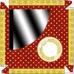 Caixa Bombom Kit Festa Realeza Vermelho - Parte de cima