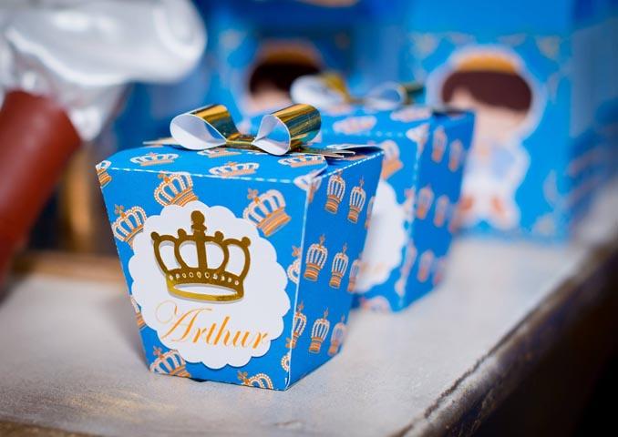 Caixa China in Box Ideias Festa Príncipe Arthur