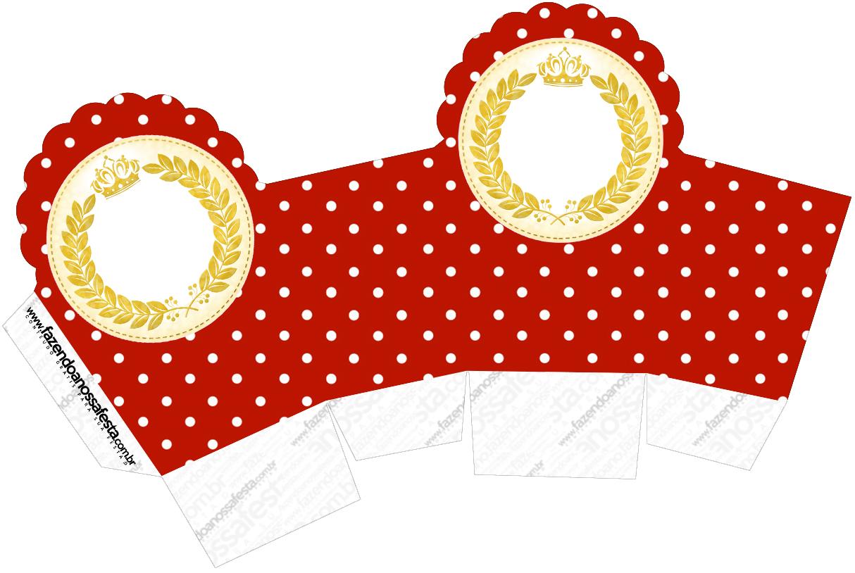 Caixa Cupcake Realeza Vermelho