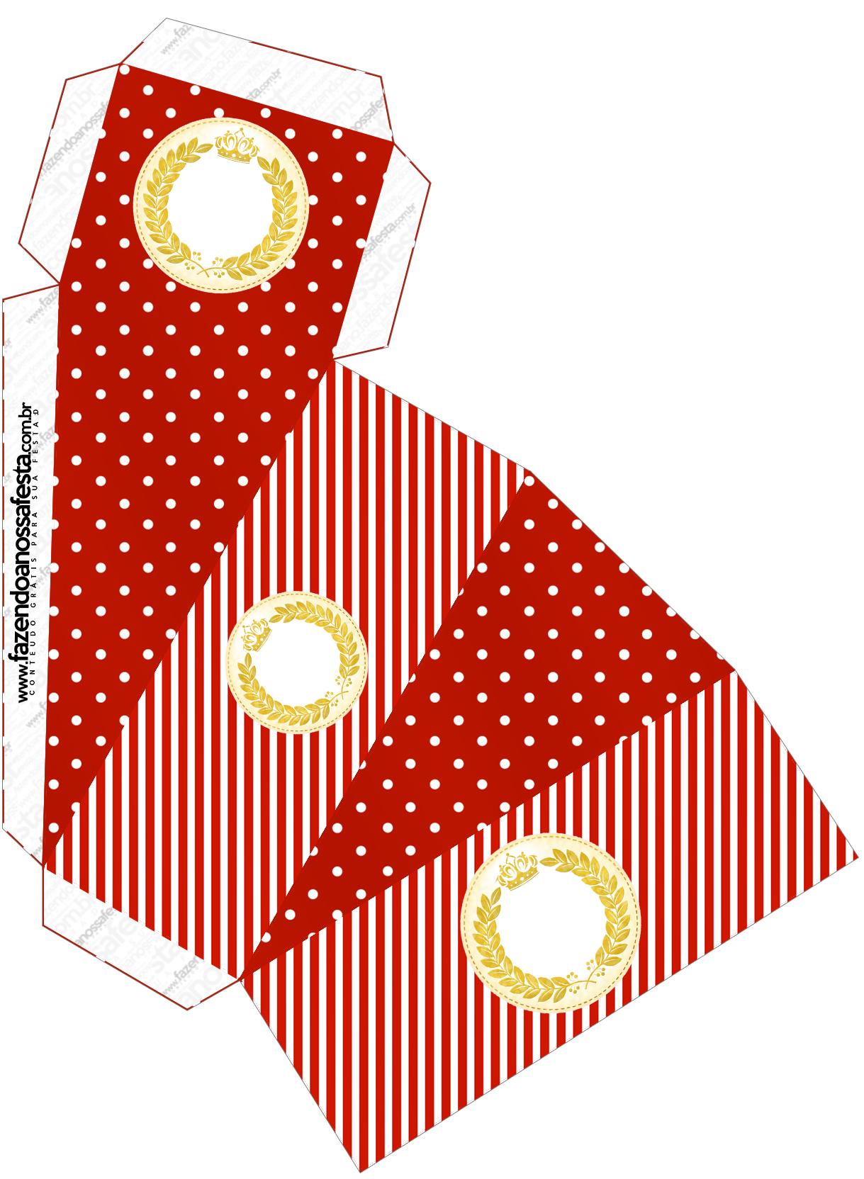 Caixa Fatia Kit Festa Realeza Vermelho