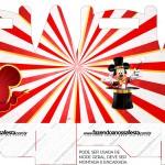 Caixa Lembrancinha Mickey Circo
