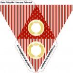 Caixa Piramide Realeza Vermelho