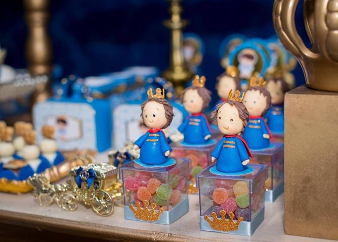 Caixa com balas - Ideias Festa Príncipe Arthur