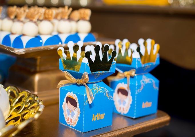 Caixa realeza - Ideias Festa Príncipe Arthur