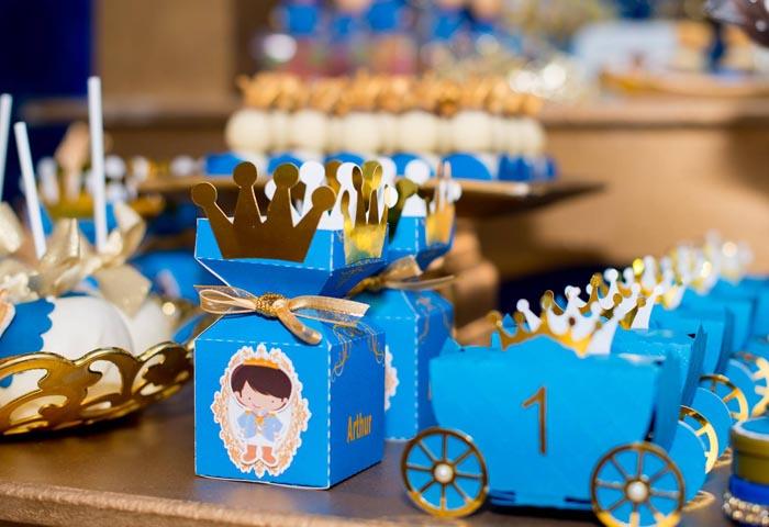 Caixinhas - Ideias Festa Príncipe Arthur