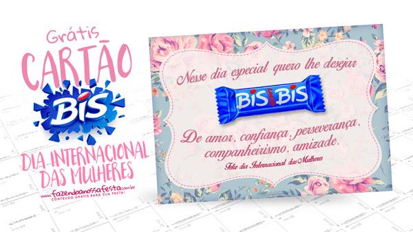 Cartão Bis Dia Internacional da Mulher