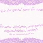 Cartão para Dia Internacional da Mulher 1