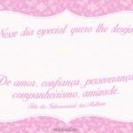 Cartao Bis Dia Internacional das Mulheres 2