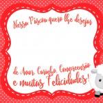 Cartão Bis Páscoa Crista Vermelho