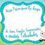 Cartão Bis Verde Páscoa Crista Ovelhinha