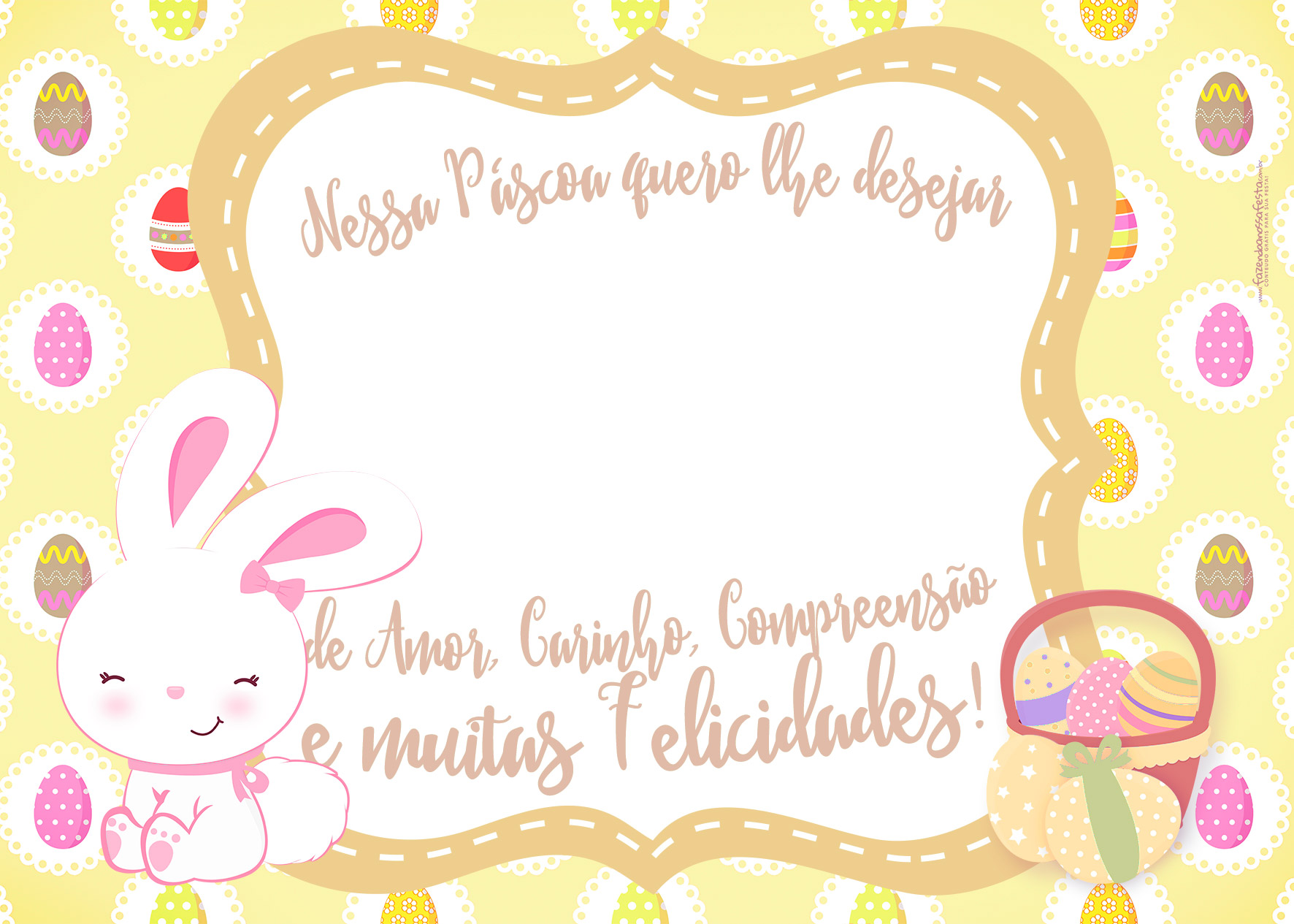 Cartão Páscoa Bis Amarelo