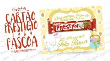 Cartão Prestígio para Páscoa - Modelo