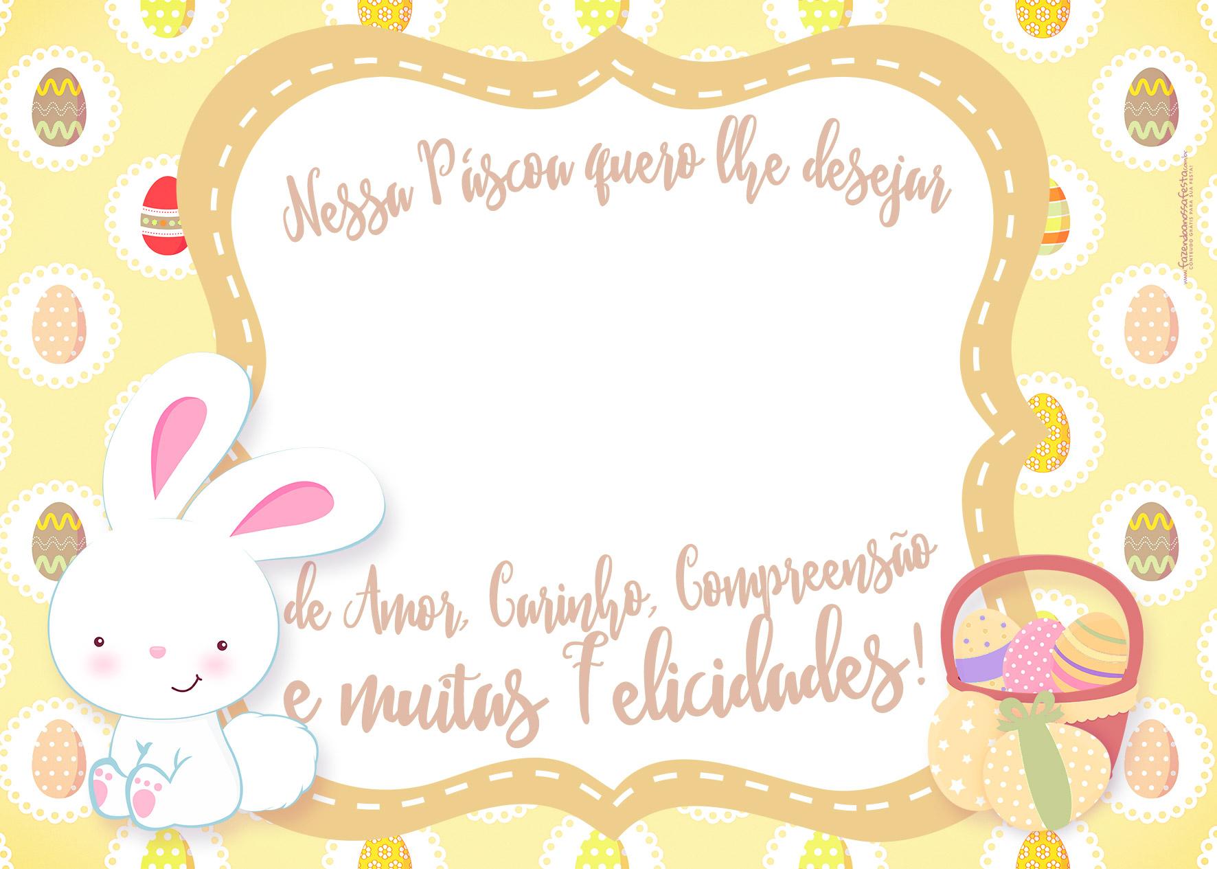 Cartão para Páscoa Bis Personalizado