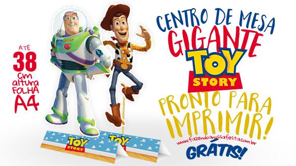 Centro de Mesa Toy Story para Imprimir