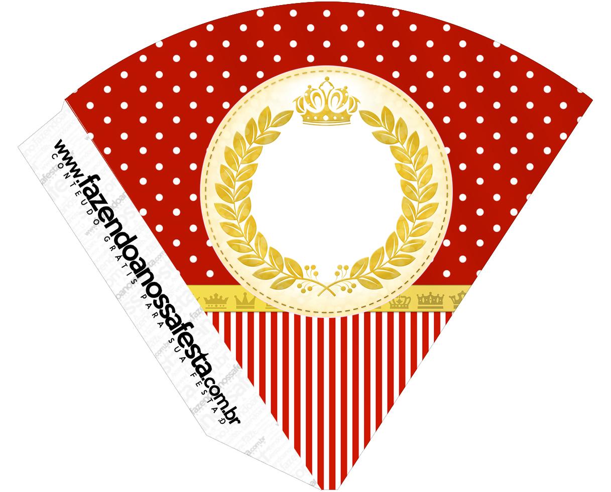 Cone Guloseimas Realeza Vermelho