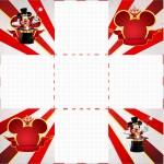 Convite Caixa Fundo Mickey Circo