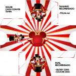 Convite Caixa Tampa Mickey Circo