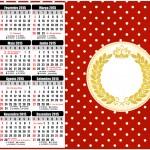 Convite Calendário 2016 Realeza Vermelho