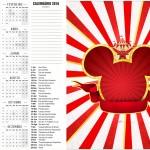 Convite Calendario 2016 2 Mickey Circo