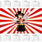 Convite Calendario 2016 Mickey Circo