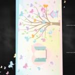 Convite Chalkboard Jardim das Borboletas