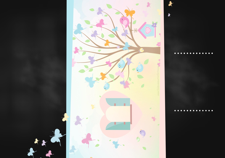 festa jardim convite : festa jardim convite:Convite Chalkboard Jardim das Borboletas – Fazendo a Nossa Festa