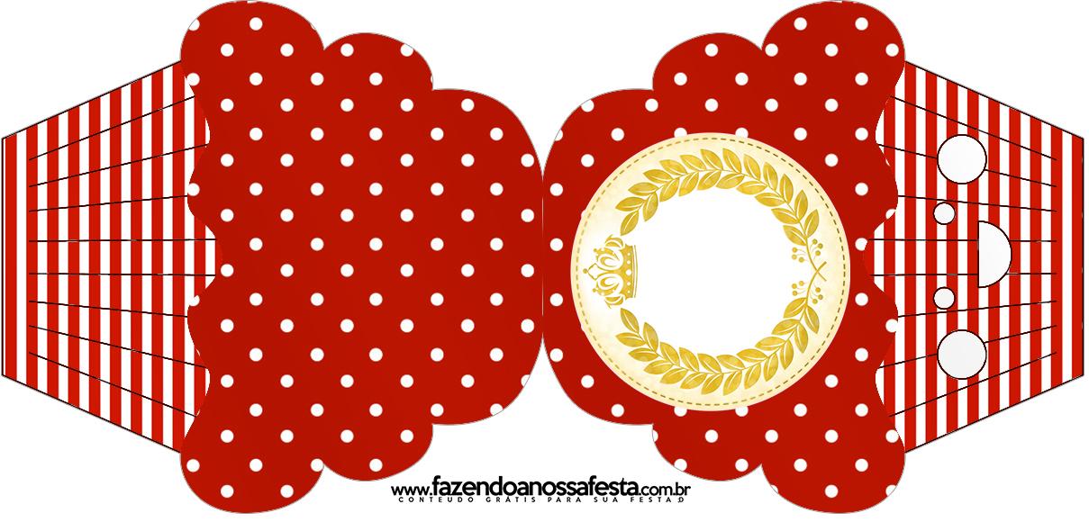 Convite Cupcake Realeza Vermelho