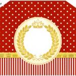 Convite Envelope Realeza Vermelho
