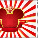 Convite Ingresso Mickey Circo