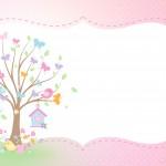 Convite para festa Jardim das Borboletas