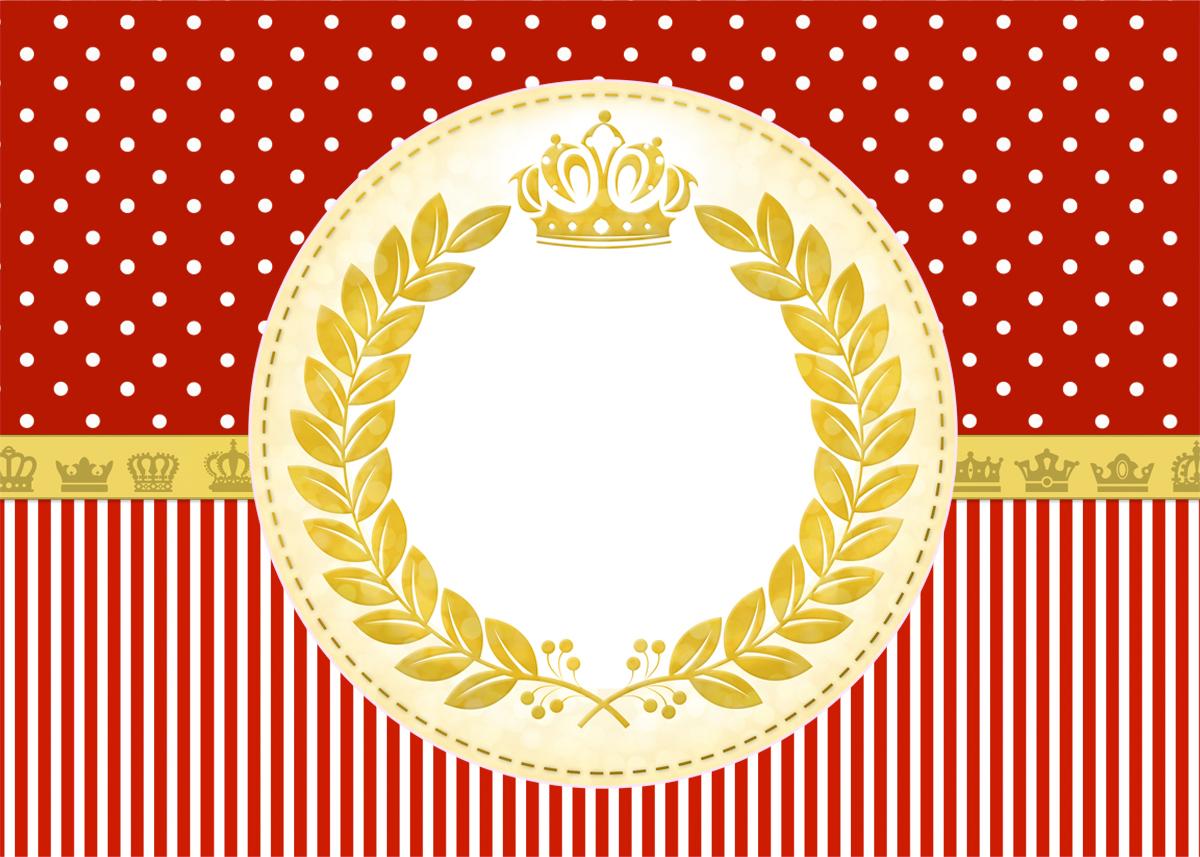 Convite Realeza Vermelho 2