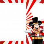 Convite com Foto Mickey Circo