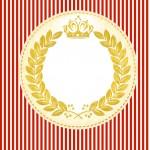 Convite festa Realeza Vermelho