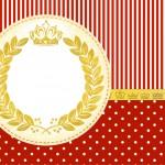 Convite ou Cartao Realeza Vermelho