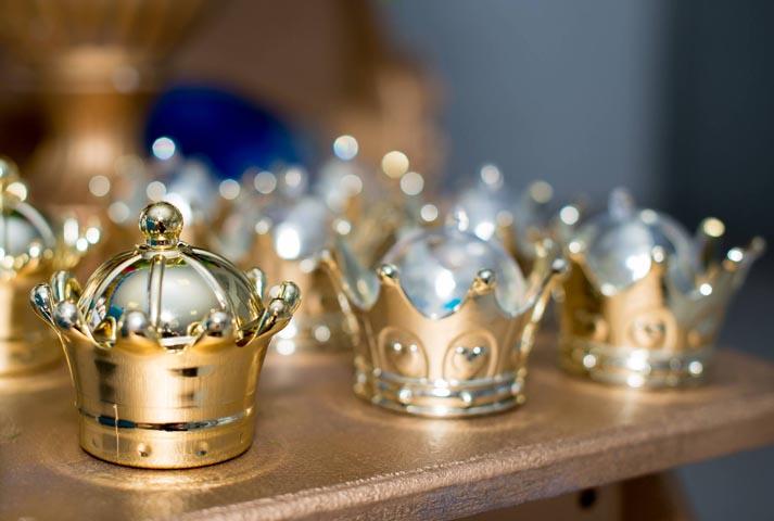 Coroas Ideias para Festa Príncipe Arthur