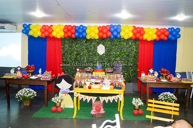 Decoracao Festa Branca de Neve Cute