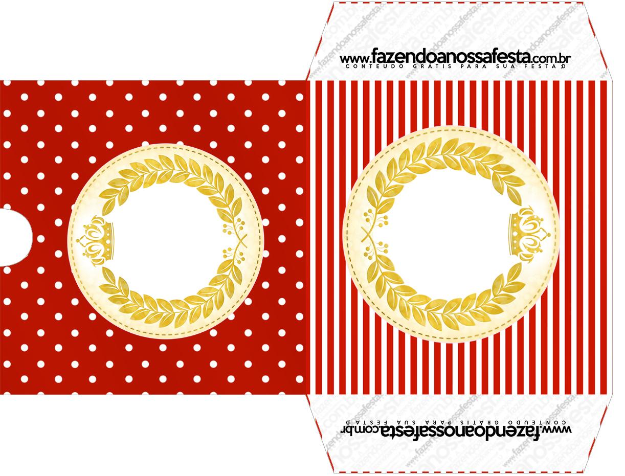 Envelope CD DVD Realeza Vermelho