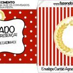 Envelope Cartao Agradecimento Realeza Vermelho