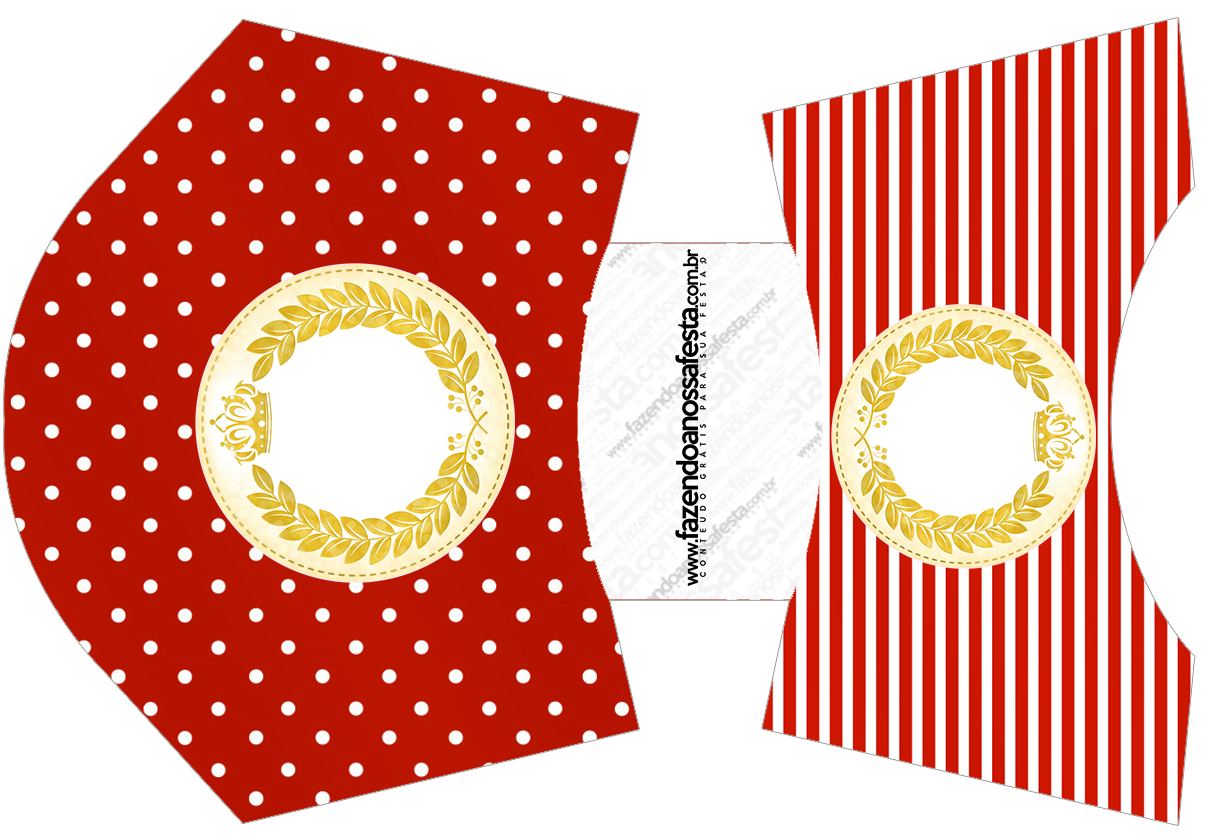 Envelope Fritas Realeza Vermelho