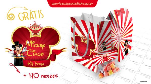 Kit Festa Mickey Circo